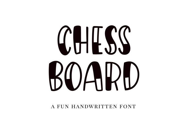 Chessboard, a playful handwritten font example image 1