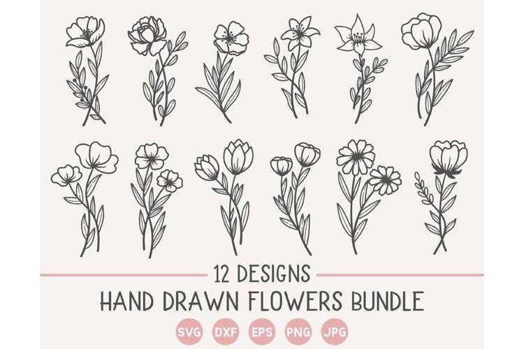 Flower Bundle SVG, Flower svg File, Flower SVG, Floral svg