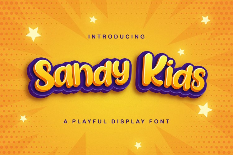 Sandy Kids - Playful Display Font example image 1