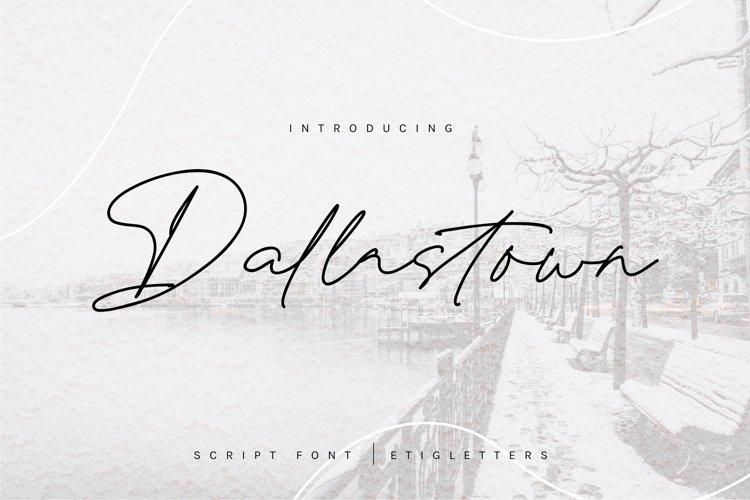 Dallastown - Script Font example image 1
