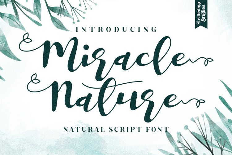 Miracle Nature - Beautiful Script Font example image 1