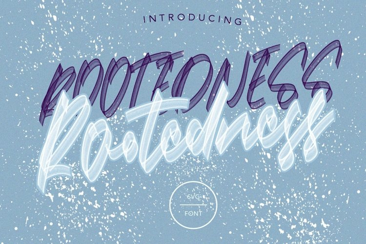 Web Font Rootedness - SVG Font example image 1