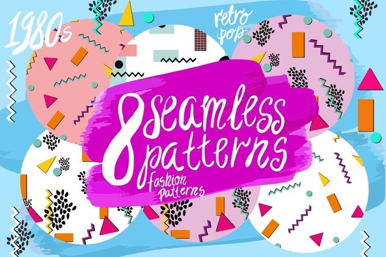 8 seamless patterns/ 1980s