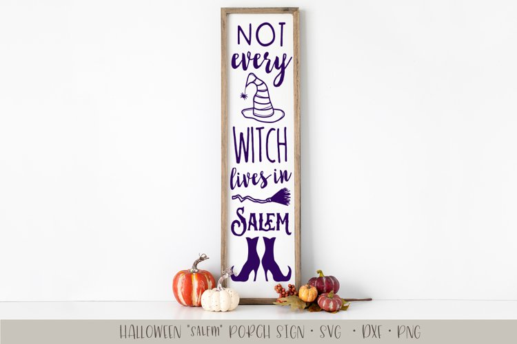 Witch from Salem Porch Sign SVG example image 1