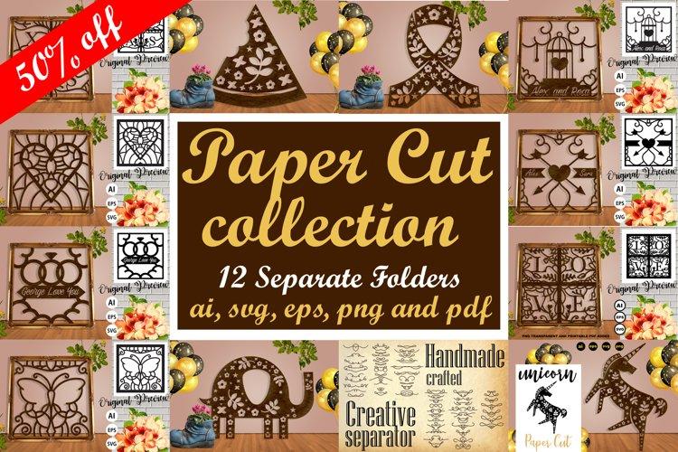 Paper Cut Pack Collection Vol. 1 - SVG, AI, EPS, PNG, PDF