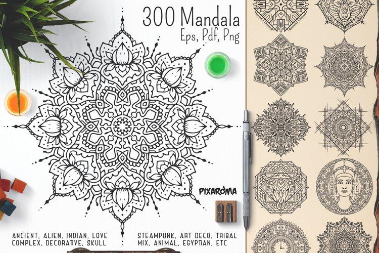 300 Vector Mandala Ornaments example image 1