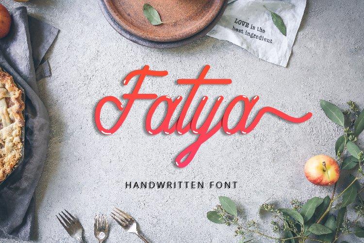 Fatya Handwritten Font example image 1