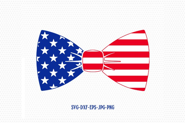 Patriotic Bow tie svg, Fourth of July SVG, 4th of July Svg, Patriotic SVG, America Svg, Cricut, Silhouette Cut File, svg dxf eps example image 1