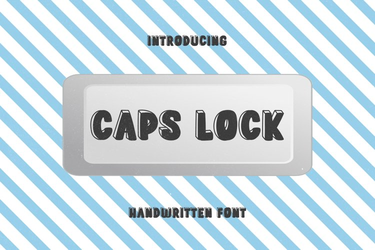 Caps Lock Button - A Cute 3D Handwritten Font example image 1