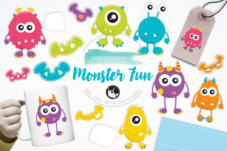 Monster Fun graphics and illustrations example image 1
