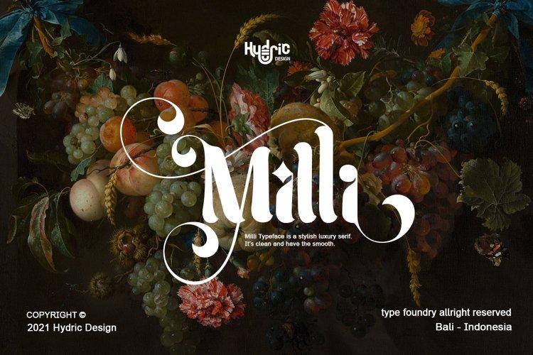 Milli - Luxury Serif Font example image 1