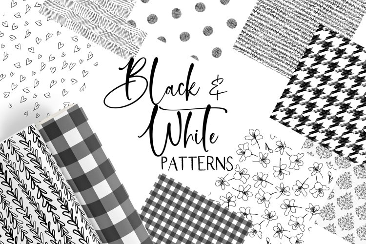 Black and White Seamless Patterns Papers