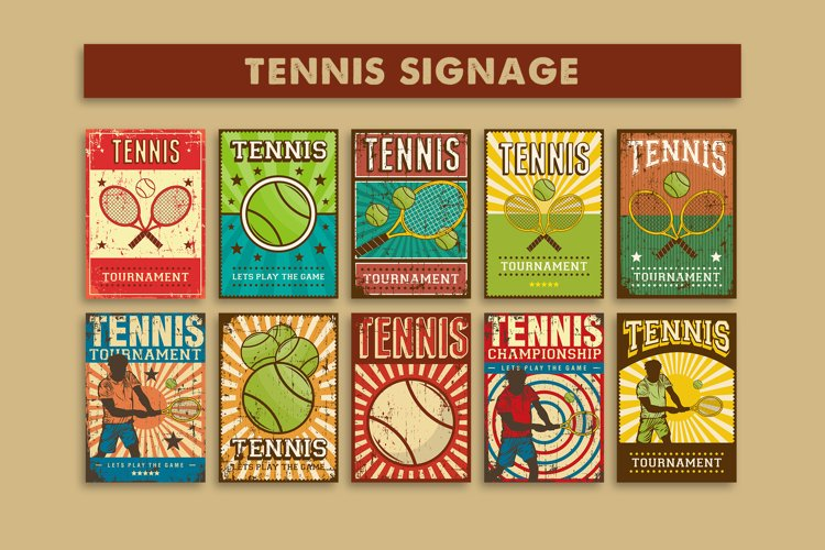 Tennis Signage Poster example image 1