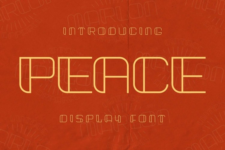 Web Font Peace Font example image 1