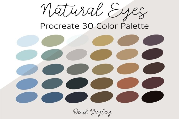 Natural Eyes Color Procreate Palette example image 1