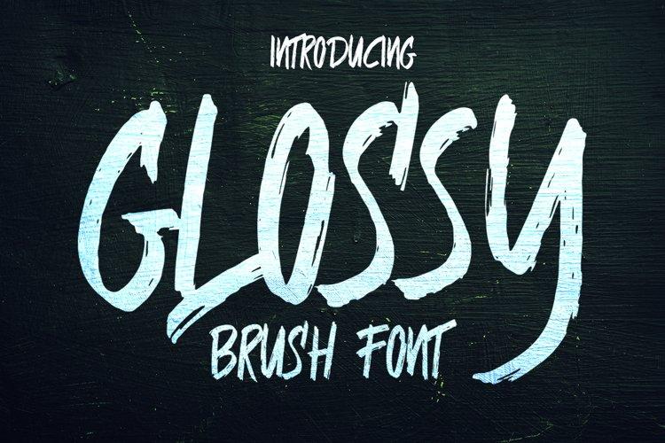 Glossy Brush Font example image 1