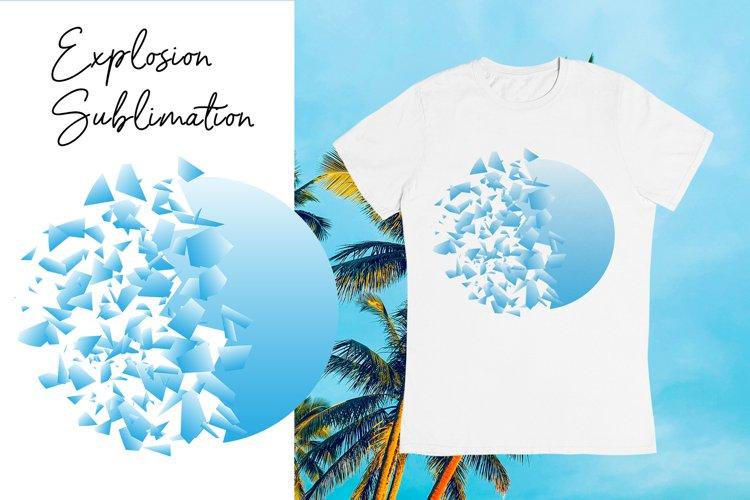 Sublimation explosion design for t shirts