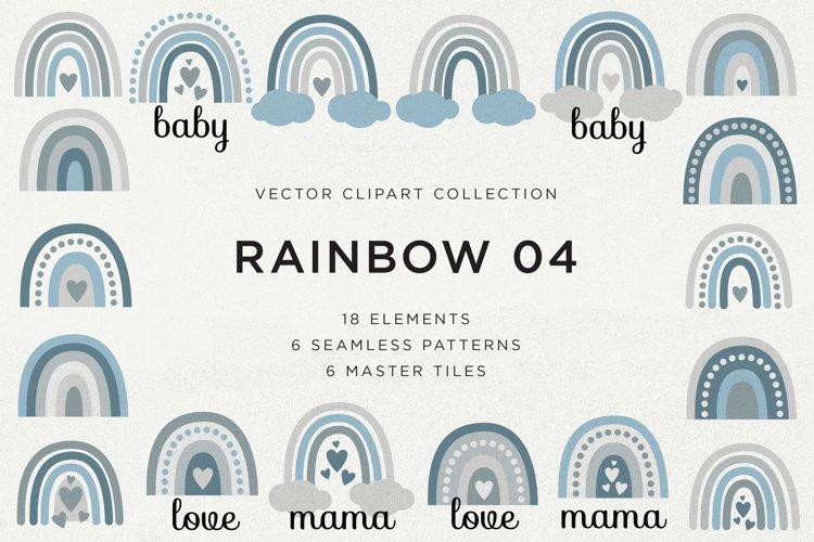 Rainbow Vector Elements   Patterns Clipart Bundle #04