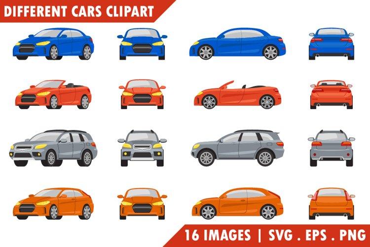 Different cars Clipart set.