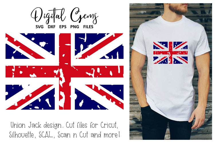 Union Jack distressed flag SVG / EPS / DXF / PNG Files
