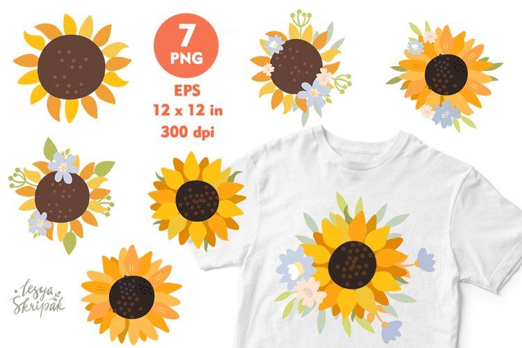 Sunflower sublimation. Sunflower bundle. Sunflower clipart
