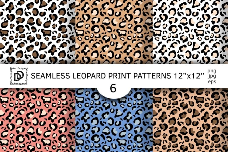 Seamless leopard print. leopard background. Animal pattern