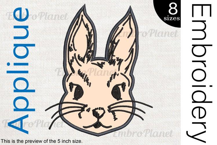 Applique Rabbit - Embroidery Files - 1487e example image 1