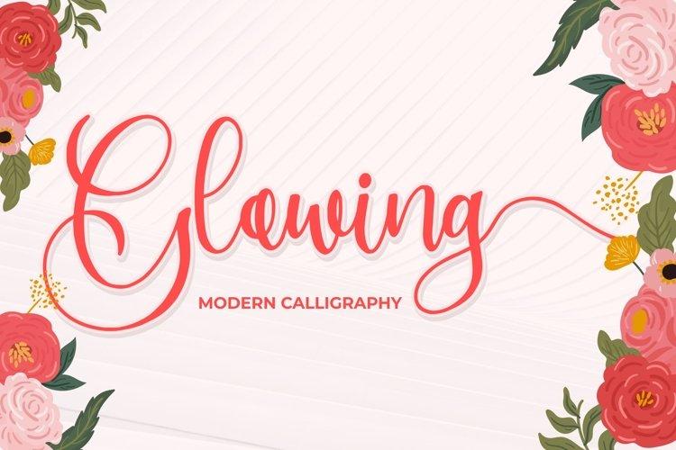 Glowing - Modern Calligraphy example image 1