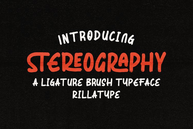 Stereography - Ligature Brush Typeface example image 1