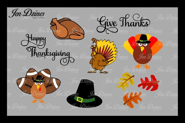 Thanksgiving SVG DXF EPS PNG example image 1