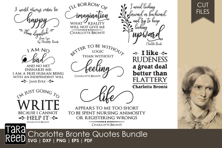 Charlotte Bronte Quotes Bundle example image 1