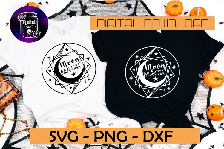 Moon magic SVG DXF PNG witchcraft svg