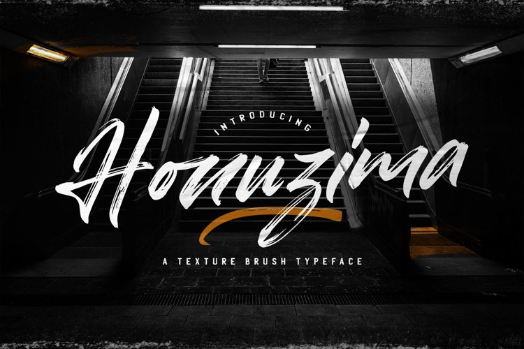 Honuzima - Handbrush Script Font example image 1