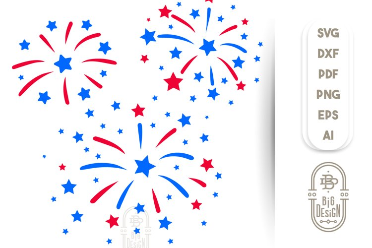 4th of July SVG - Fireworks SVG File example image 1
