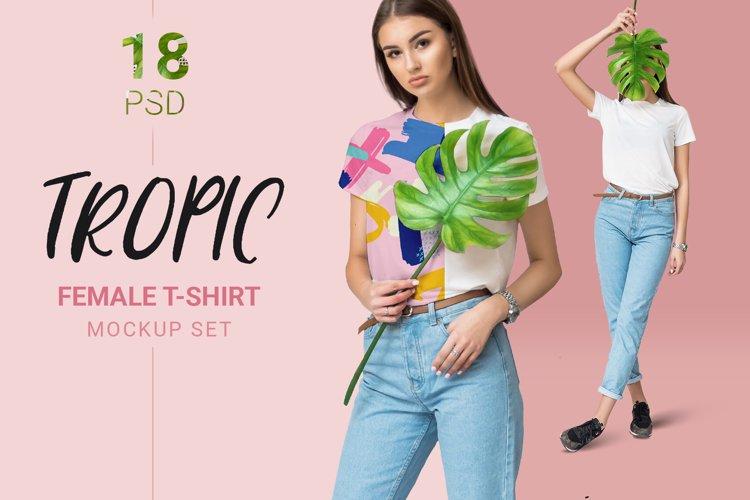 Female T-shirt Mockups Free Demo