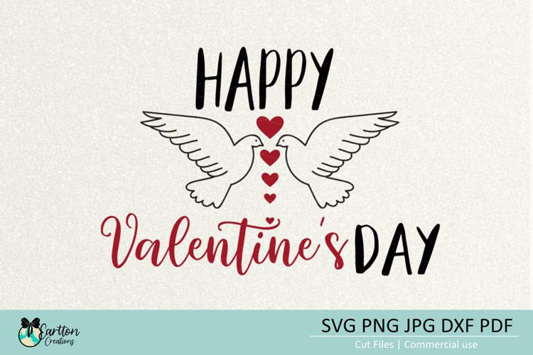 Happy Valentines Day SVG Cut File example image 1