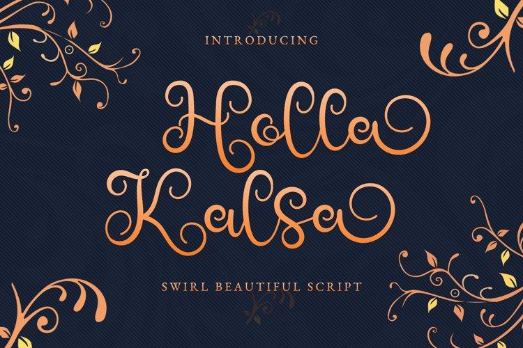Holla Kalsa - Swirly Calligraphy Font example image 1