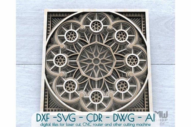 Layered Mandala SVG, 3D Mandala SVG, Laser Cut Mandala - D01 example