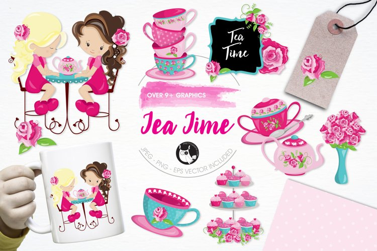 Tea Time graphics and illustrations example image 1