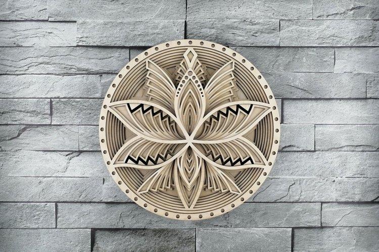 Layered Mandala SVG, Cut file Mandala, Flower mandala, Lotus example image 1