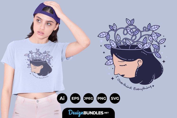 Overthinking Illustrations for T-Shirt Design example image 1