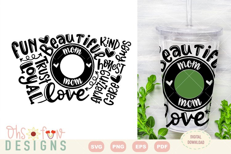 SVG mom seamless venti cold cup wrap| typography example image 1