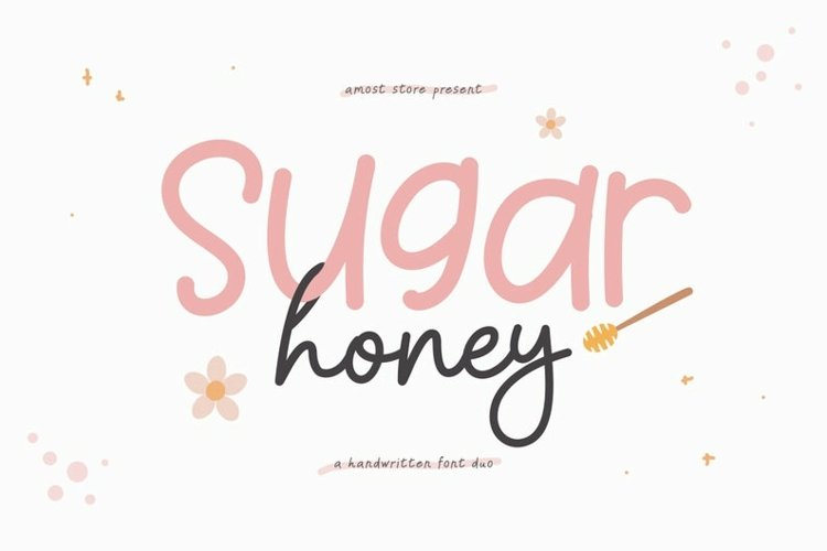 Sugar Honey - Handwritten Font Duo