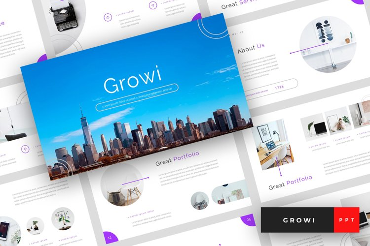 Growi - Business PowerPoint Template example image 1