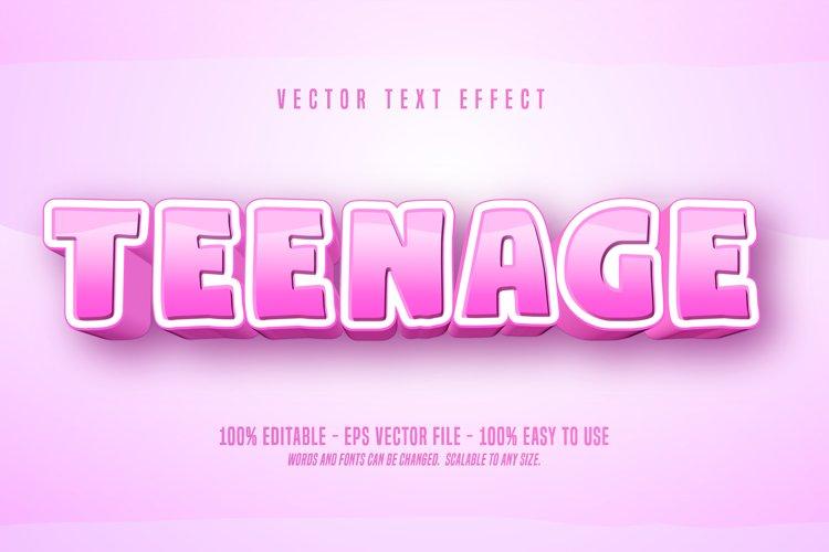 Teenage text, cartoon style editable text effect example image 1