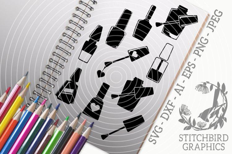 Nail Polish SVG, Silhouette Studio, Cricut, Eps, Jpeg, Png