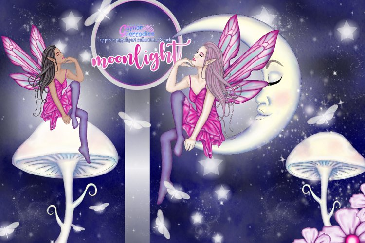 Moonligh Fairy Clipart Collection