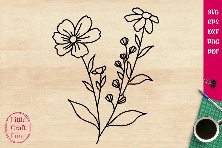 Flowers Svg, Florals Svg example image 1