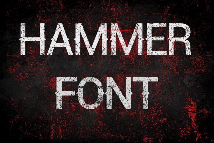 Hammer Font - Halloween Display Font