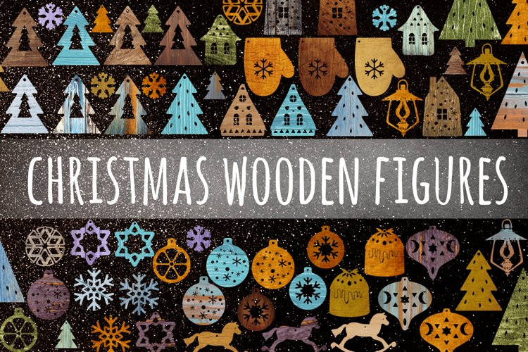 Christmas wooden figures example image 1
